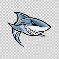 Cartoon Shark Smile 01751