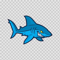 Cartoon Shark Mascot 01755
