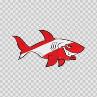 Cartoon Scuba Flag Shark 01776