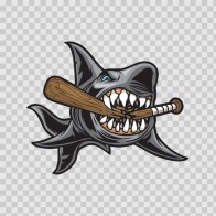 Angry Shark Smash Baseball Bat 01779