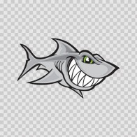 Cartoon Shark Smile 01787