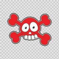 Cartoon Red Skull 02420