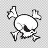 Crossbones Skull 02586